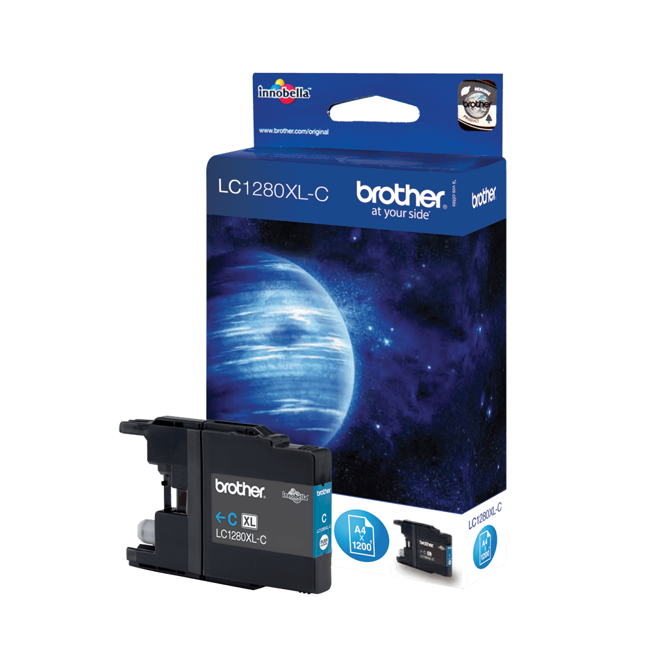 Genuine Brother LC1280XLC High Yield Ink Cartridge – Cyan
