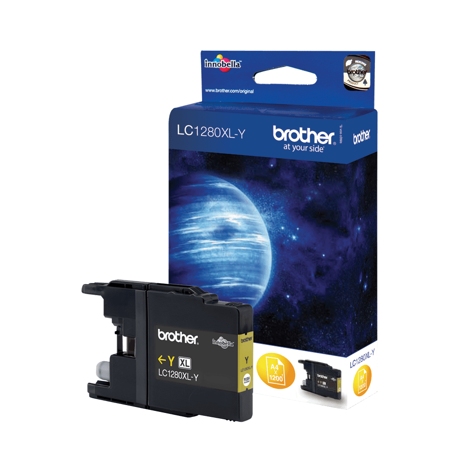 Genuine Brother LC1280XLY High Yield Ink Cartridge – Yellow 0