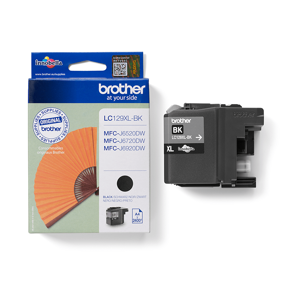 Genuine Brother LC129XLBK High Yield Ink Cartridge – Black  1