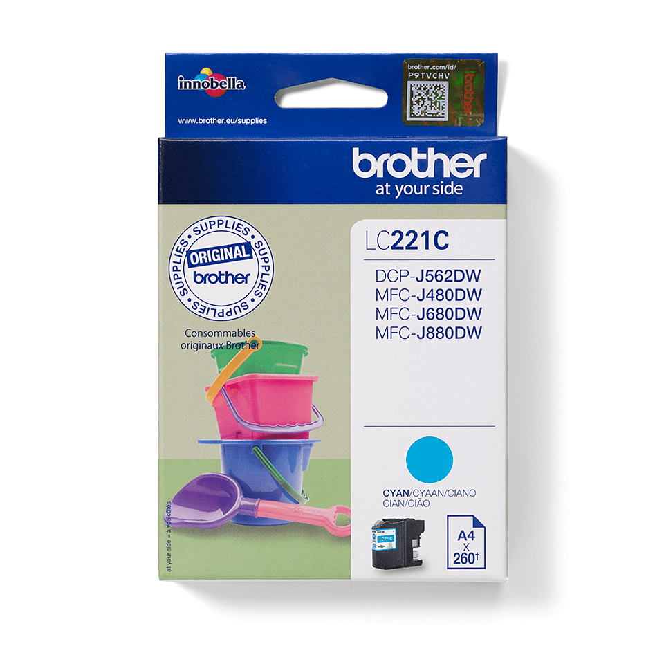 Genuine Brother LC221C Ink Cartridge – Cyan 0