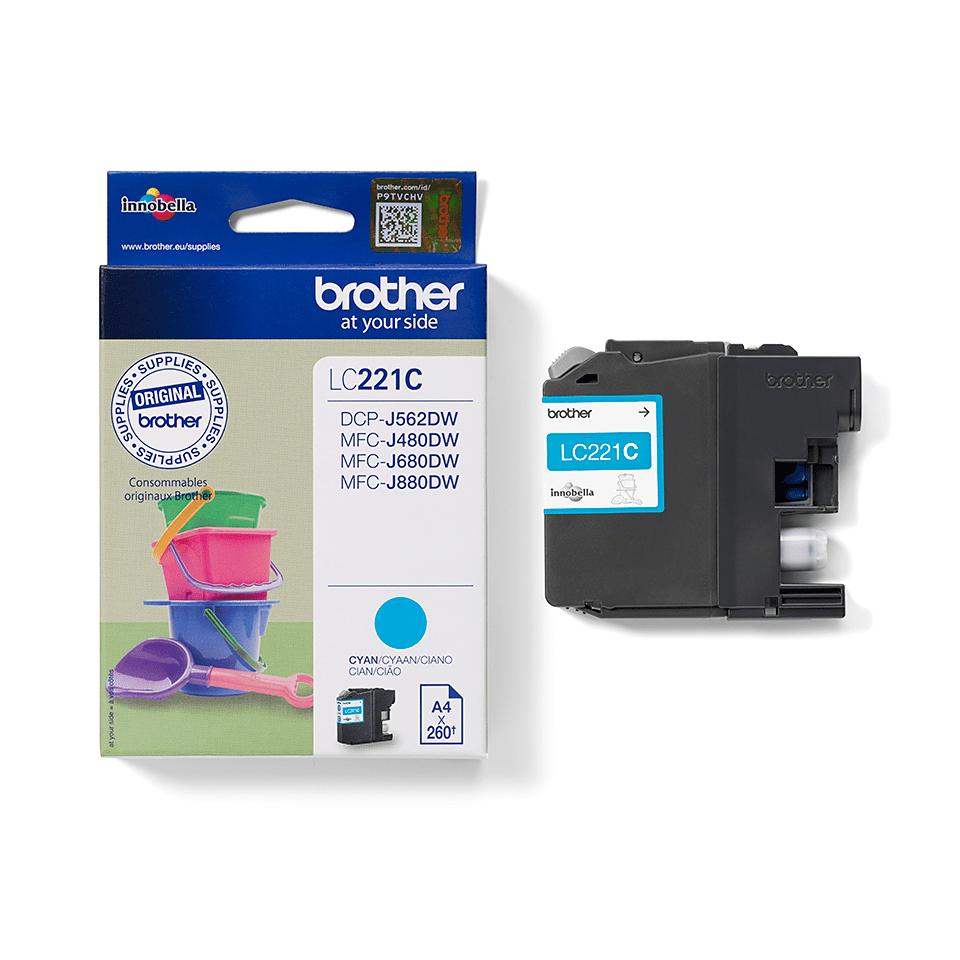 Genuine Brother LC221C Ink Cartridge – Cyan 1
