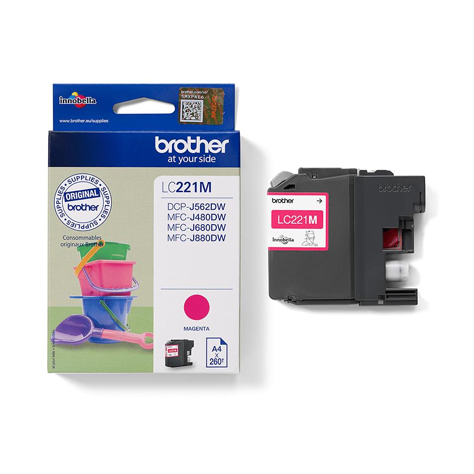 Genuine Brother LC221M Ink Cartridge – Magenta 1