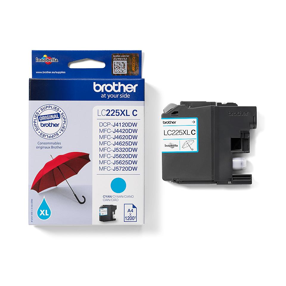 Genuine Brother LC225XLC Ink Cartridge – Cyan 2