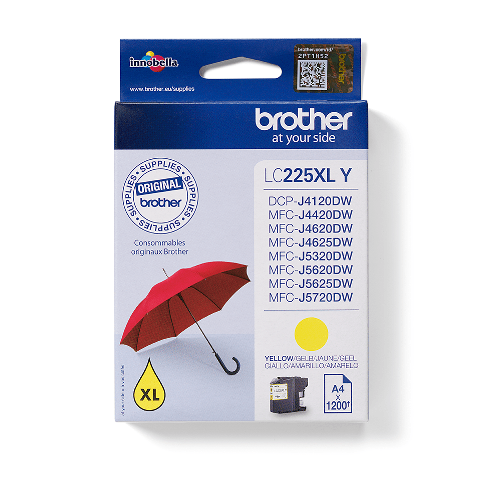 Genuine Brother LC225XLY Ink Cartridge – Yellow 0