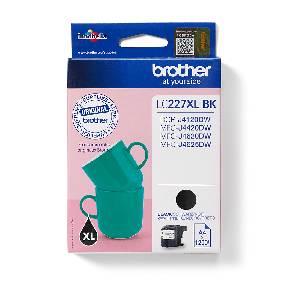 Genuine Brother LC227XLBK High Yield Ink Cartridge - Black