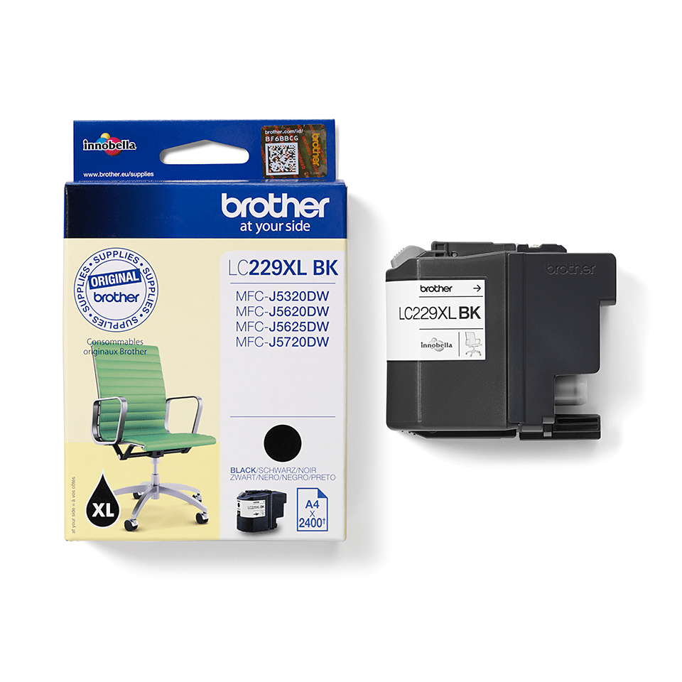 Genuine Brother LC227XLBK High Yield Ink Cartridge - Black 2