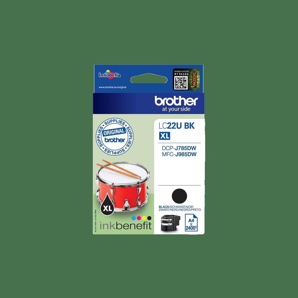 Genuine Brother LC22UBK Ink Cartridge – Black 2