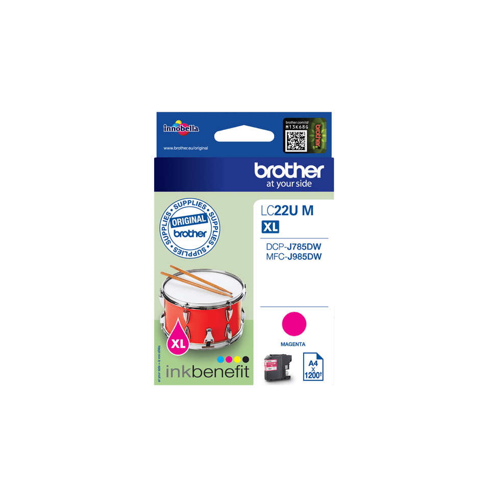 Genuine Brother LC22UM Ink Cartridge – Magenta 2