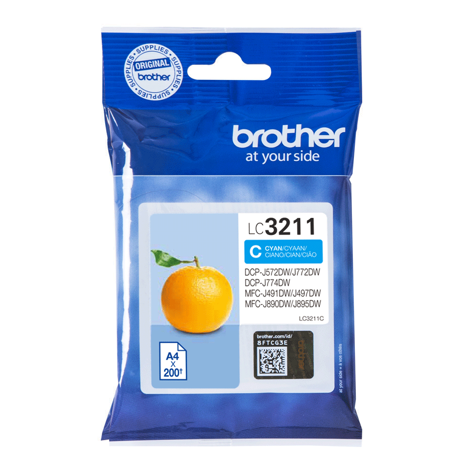 Genuine Brother LC3211C ink cartridge - cyan 2