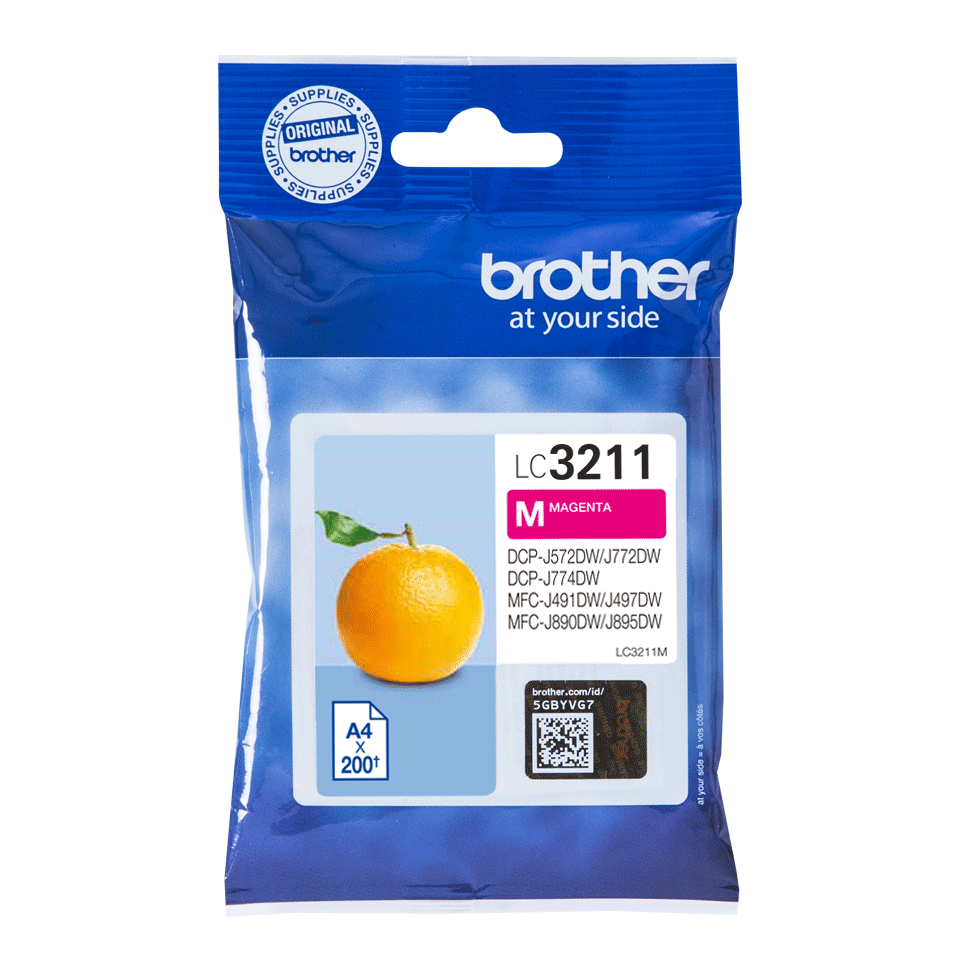 Genuine Brother LC3211M ink cartridge - magenta