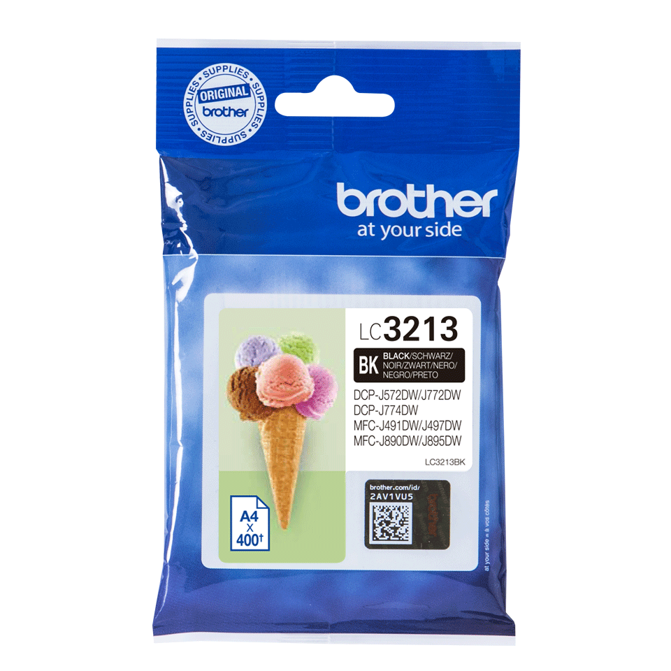 Brother genuine LC3213BK ink cartridge - black 2