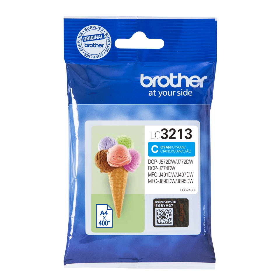 Genuine Brother LC3213C ink cartridge - cyan 2
