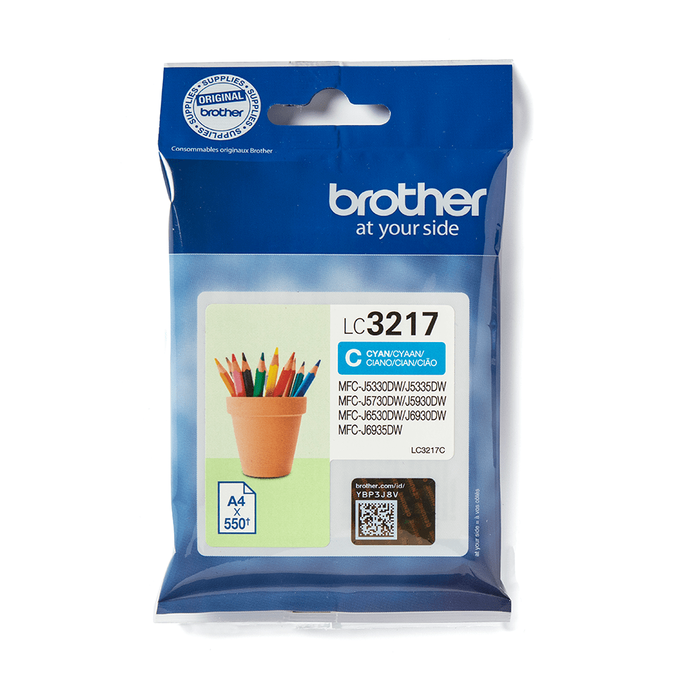 Genuine Brother LC3217C Ink Cartridge – Cyan 1