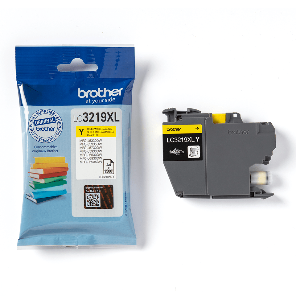 Genuine Brother LC3219XLY Ink Cartridge in yellow 3