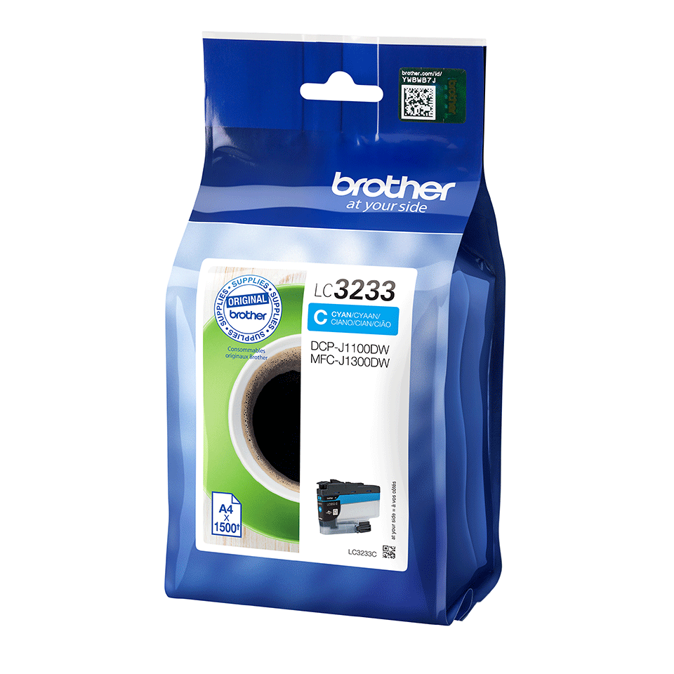 Genuine Brother LC3233C ink cartridge - Cyan 2