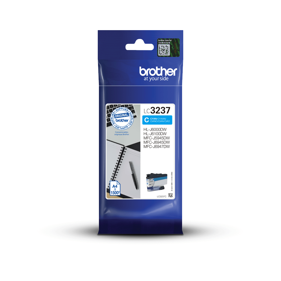 Genuine Brother LC3237C Ink Cartridge – Cyan