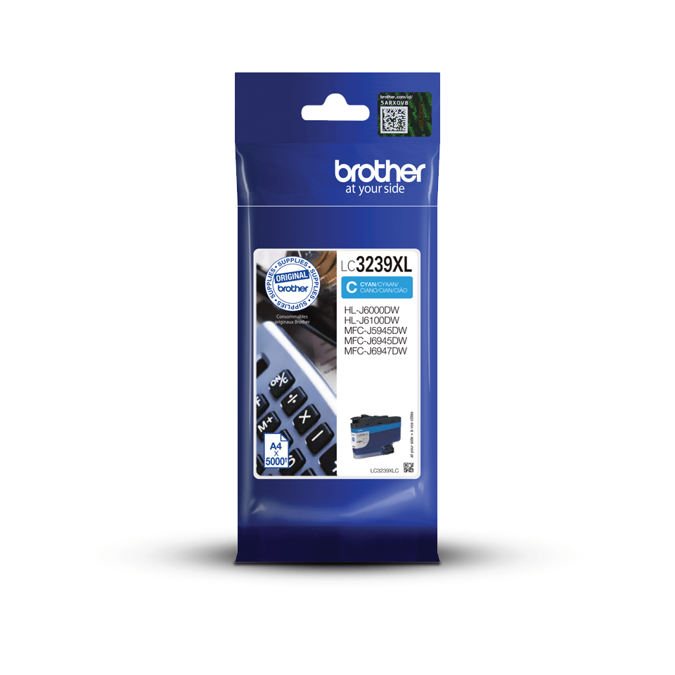 Genuine Brother LC3239XLC High-yield Ink Cartridge – Cyan