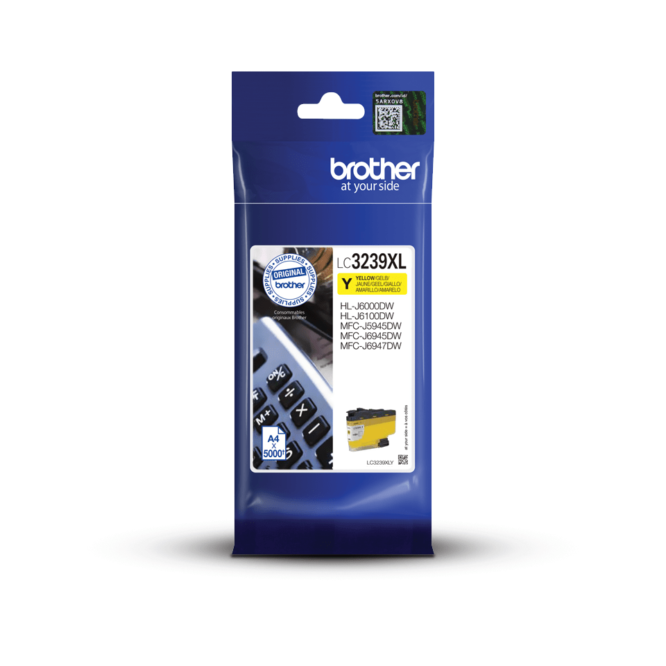 Genuine Brother LC3239XLY High-yield Ink Cartridge – Yellow
