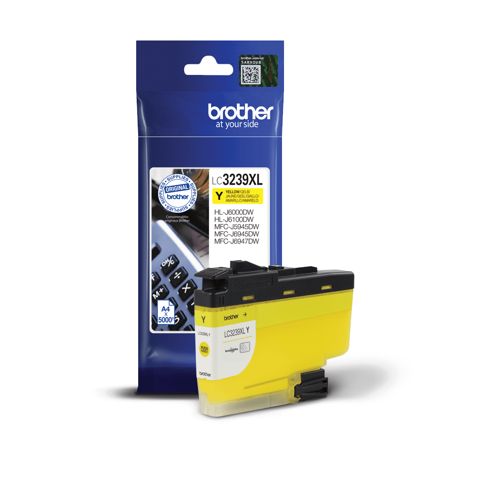 Genuine Brother LC3239XLY High-yield Ink Cartridge – Yellow 2