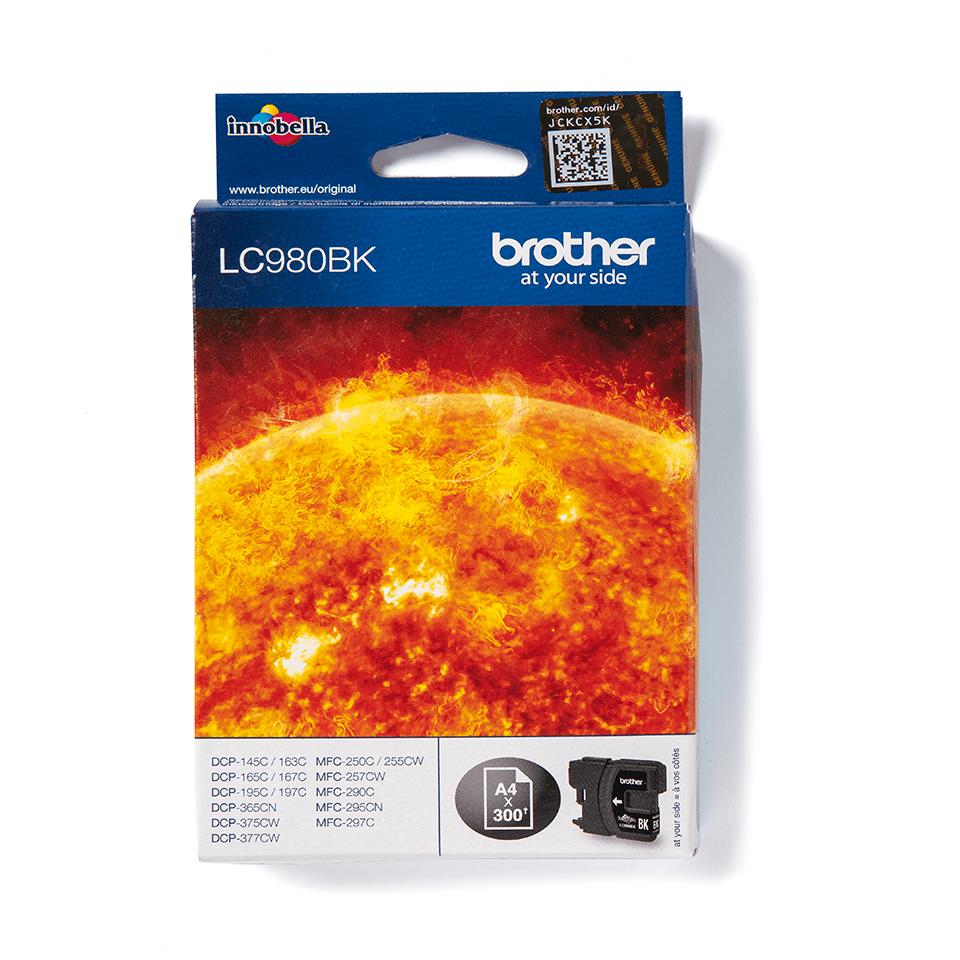 Genuine Brother LC980BK Ink Cartridge – Black 0