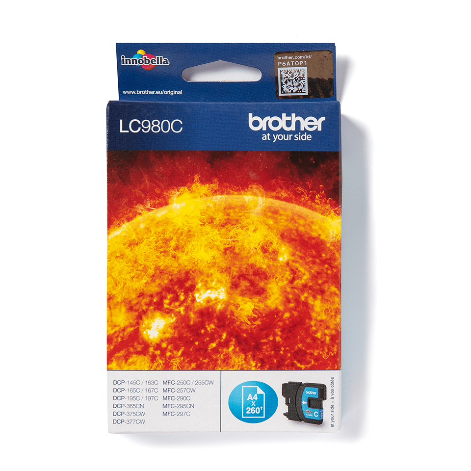 LC980C Brother genuine ink cartridge pack front image