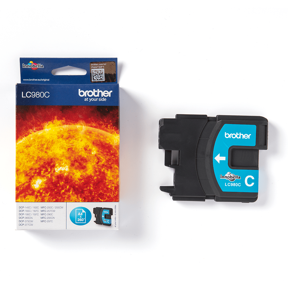 Genuine Brother LC980C Ink Cartridge – Cyan 2