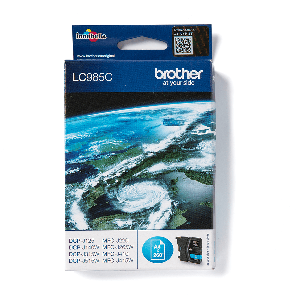 LC985C Brother genuine ink cartridge pack front image