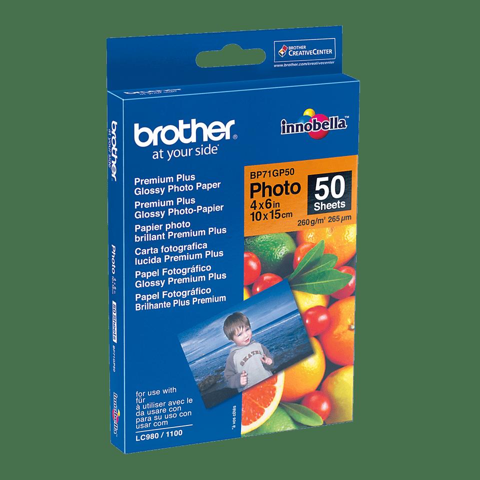 Genuine Brother BP71GP50 Glossy 10cm x 15cm Photo Paper