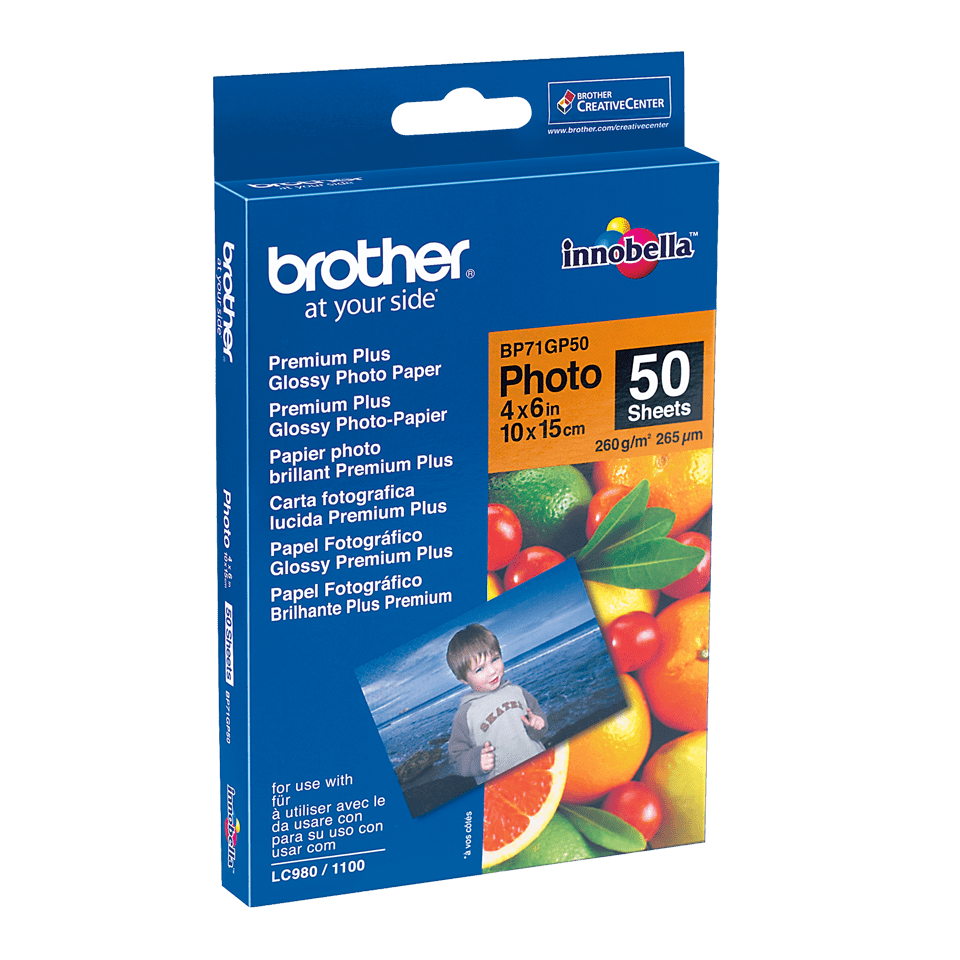 Genuine Brother BP71GP50 Glossy 10cm x 15cm Photo Paper 0
