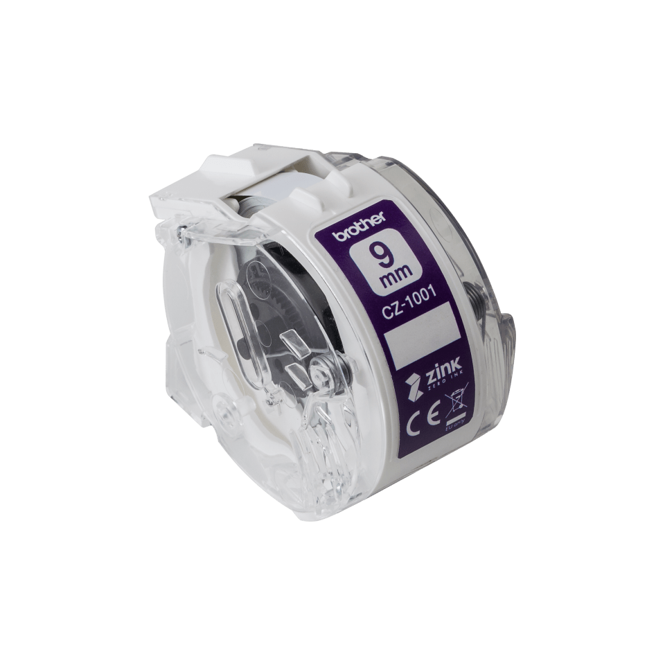 Genuine Brother CZ-1001 full colour continuous label roll, 9mm wide 2