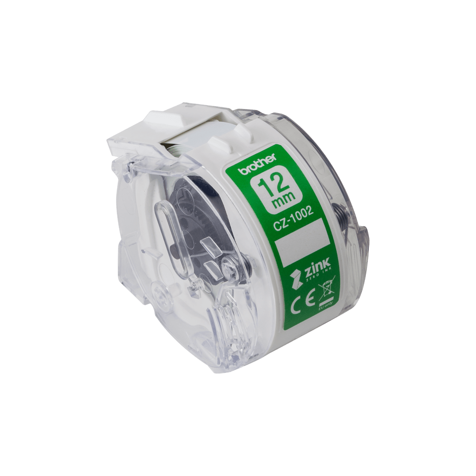 Genuine Brother CZ-1002 full colour continuous label roll, 12mm wide 2