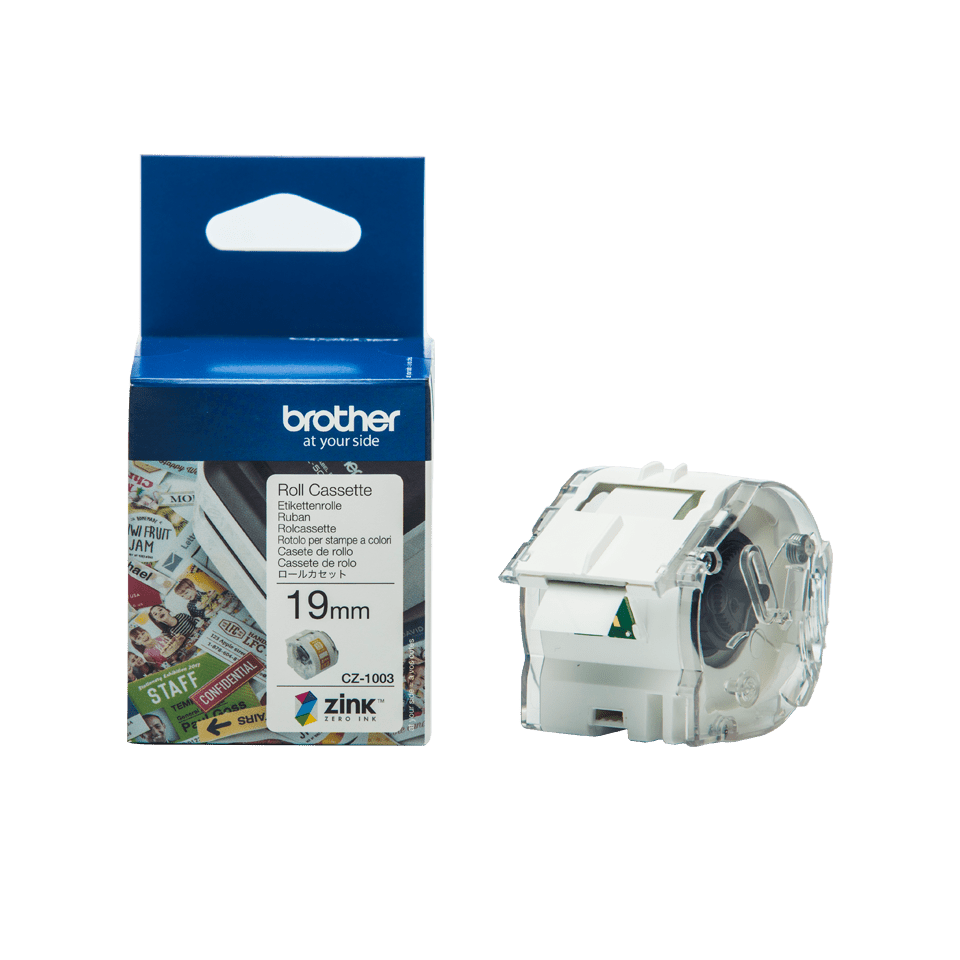 Genuine Brother CZ-1003 full colour continuous label roll, 19mm wide