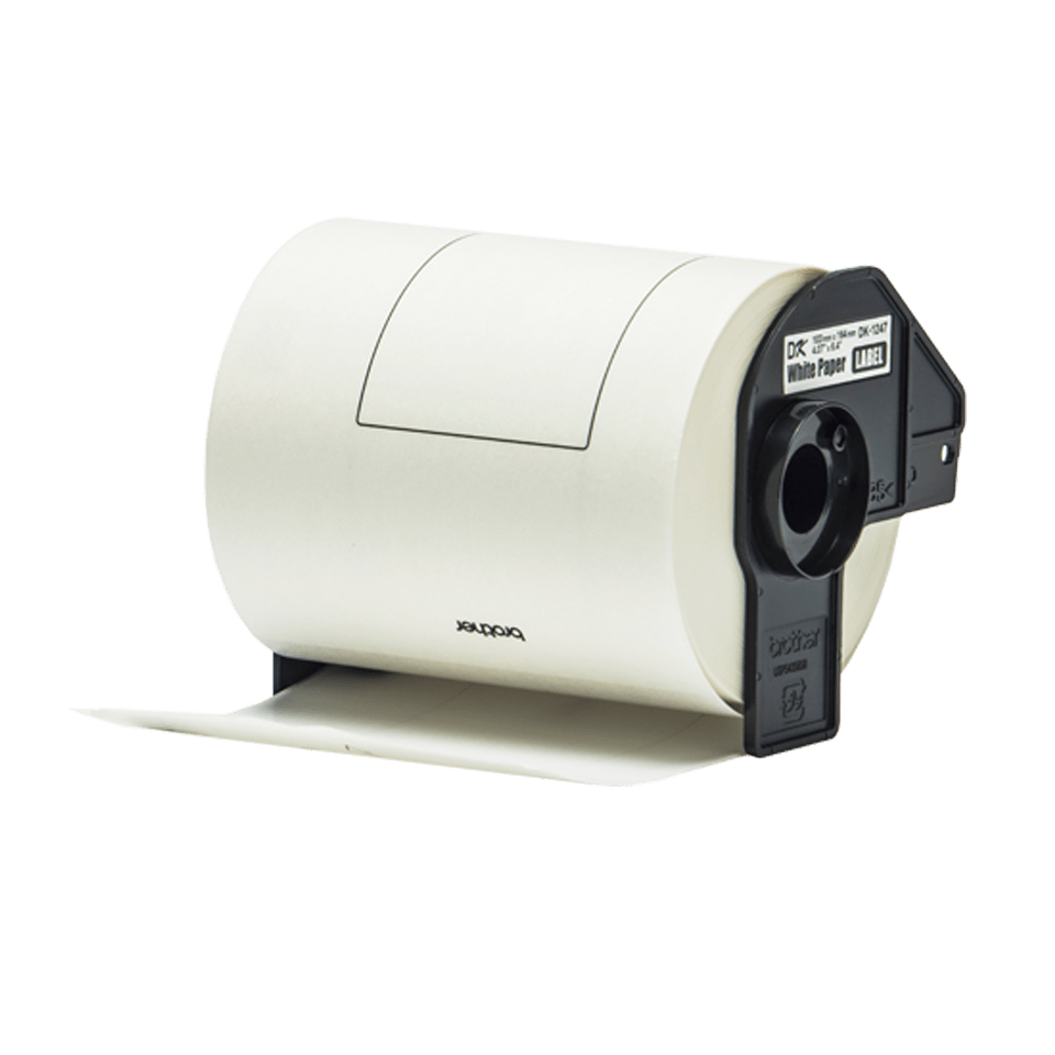 Genuine Brother DK-11247 Label Roll – Black on White, 103mm x 164mm 2