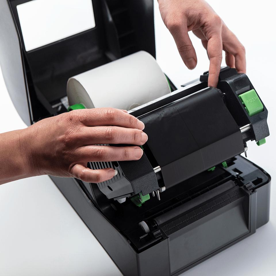 Premium Resin Thermal Transfer Black Ink Ribbon BRP-1D300-110 3