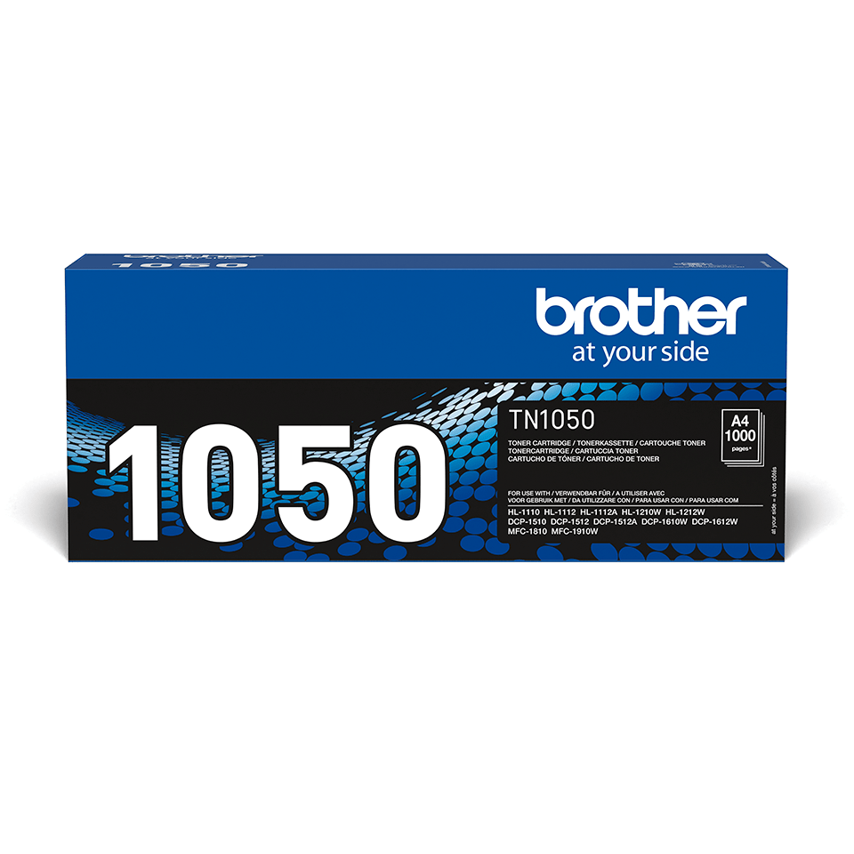 Genuine Brother TN1050 Toner Cartridge – Black