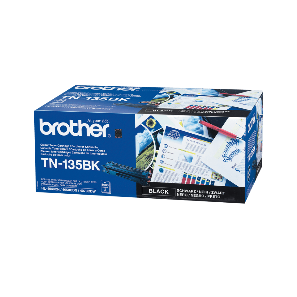 Genuine Brother TN-135BK High Yield Toner Cartridge – Black 0