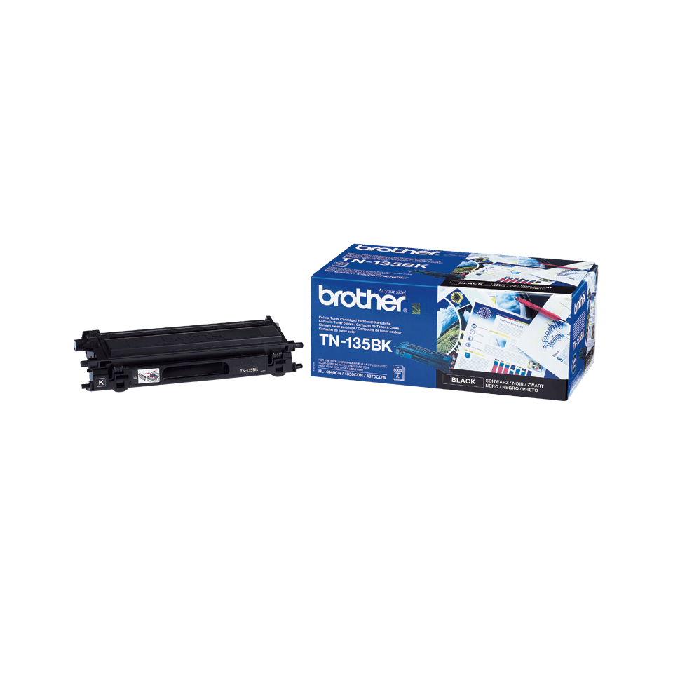 Genuine Brother TN-135BK High Yield Toner Cartridge – Black 1