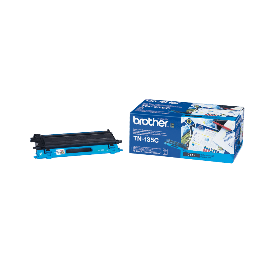 Genuine Brother TN-135C High Yield Toner Cartridge – Cyan  2
