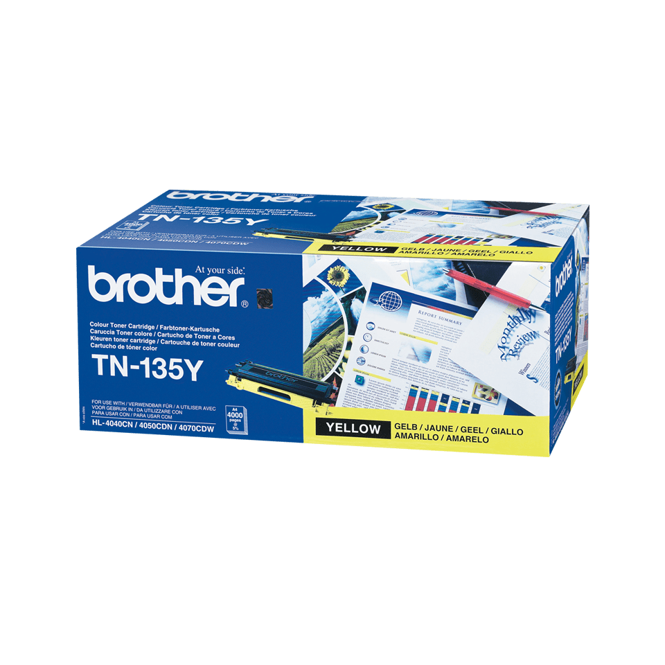 Genuine Brother TN135Y High Yield Toner Cartridge – Yellow