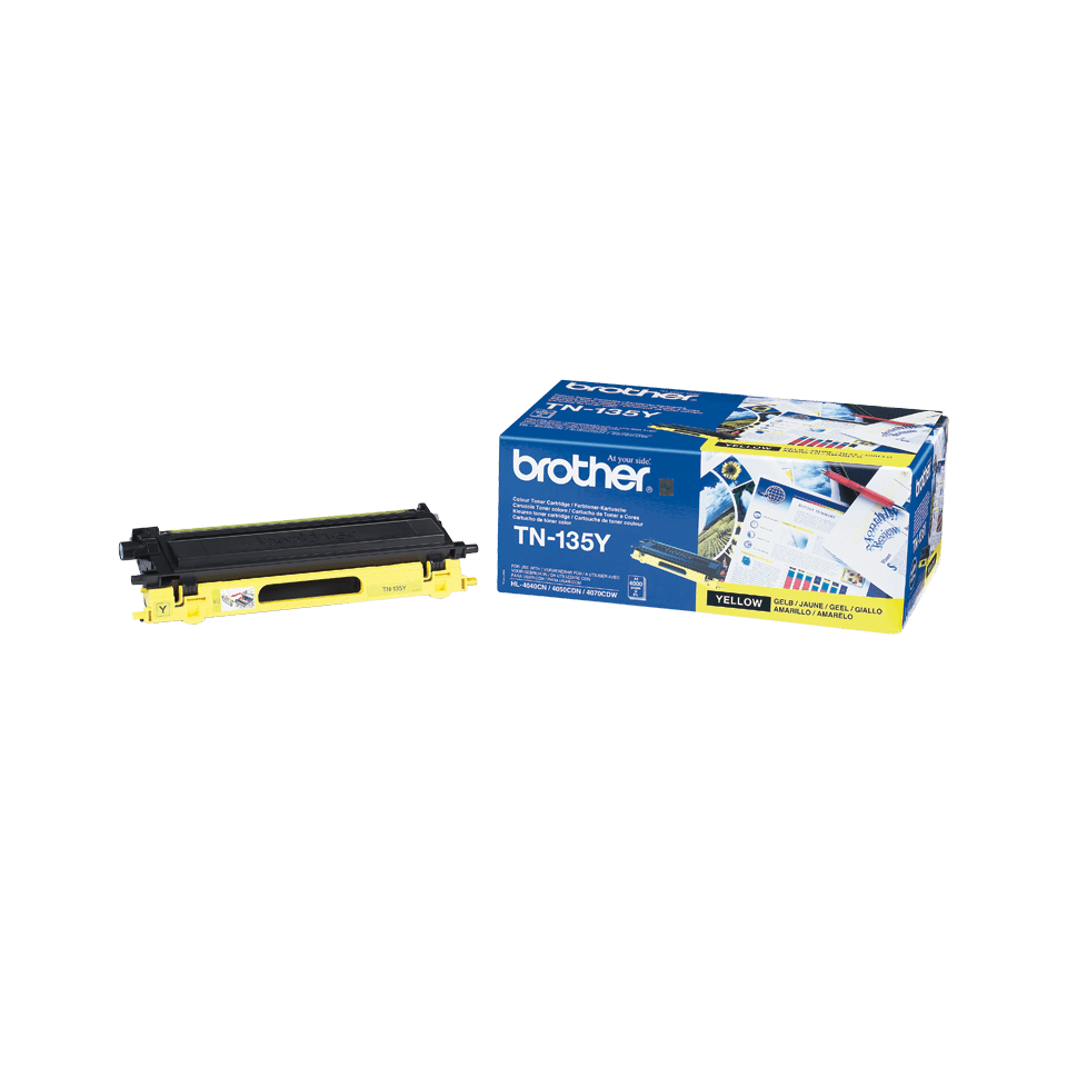 Genuine Brother TN135Y High Yield Toner Cartridge – Yellow