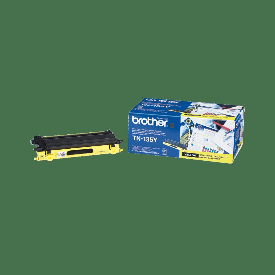 Genuine Brother TN135Y High Yield Toner Cartridge – Yellow 1