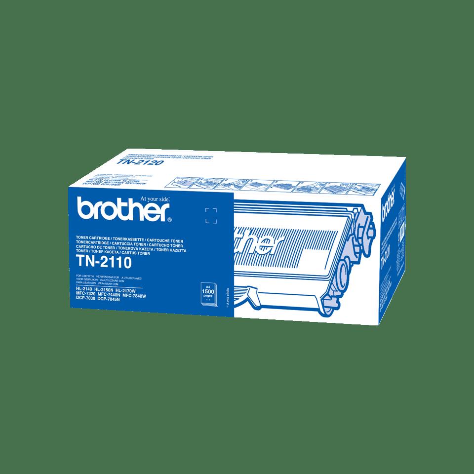 Genuine Brother TN-2110 Toner Cartridge – Black