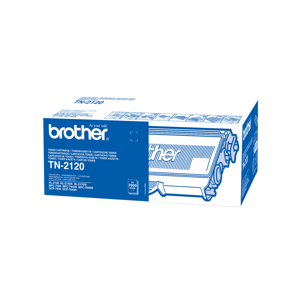 Genuine Brother TN2120 High Yield Toner Cartridge – Black