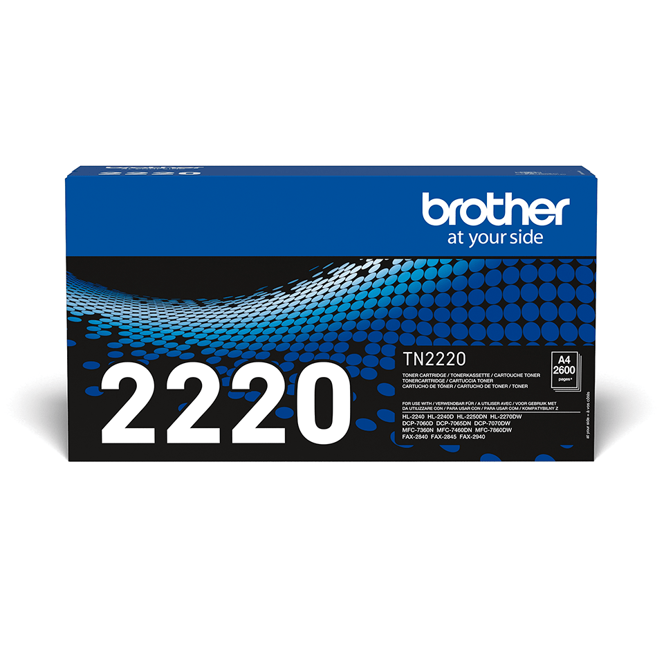 Genuine Brother TN2220 High Yield Toner Cartridge – Black