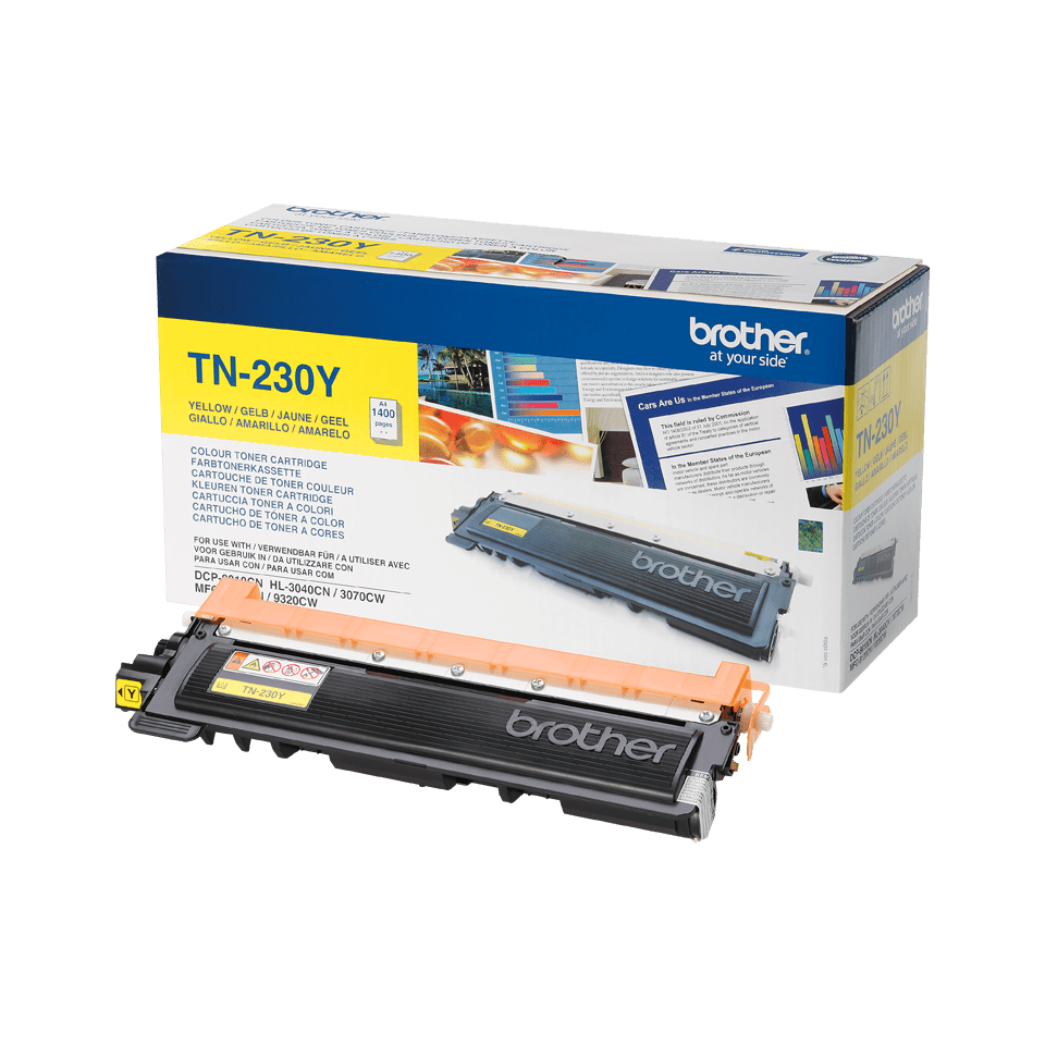 Genuine Brother TN-230Y Toner Cartridge – Yellow 2