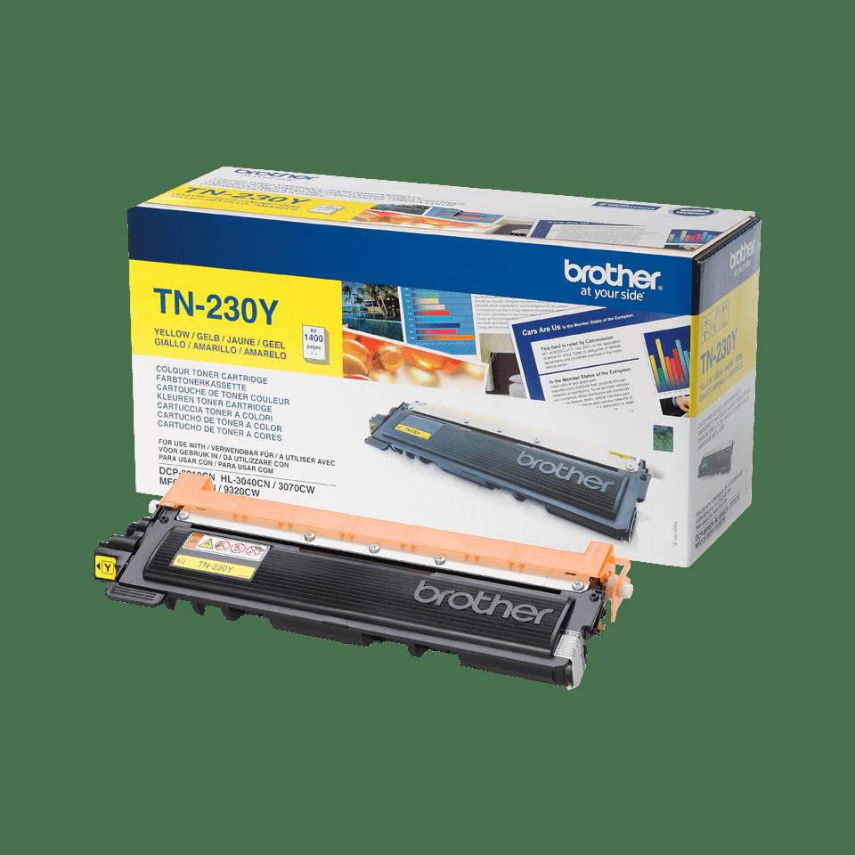 Genuine Brother TN-230Y Toner Cartridge – Yellow 2