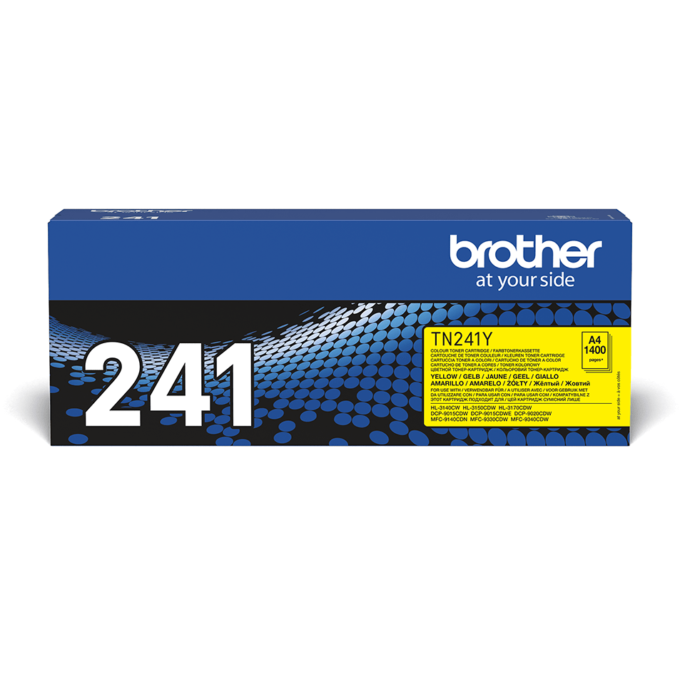 Genuine Brother TN-241Y Toner Cartridge – Yellow 1