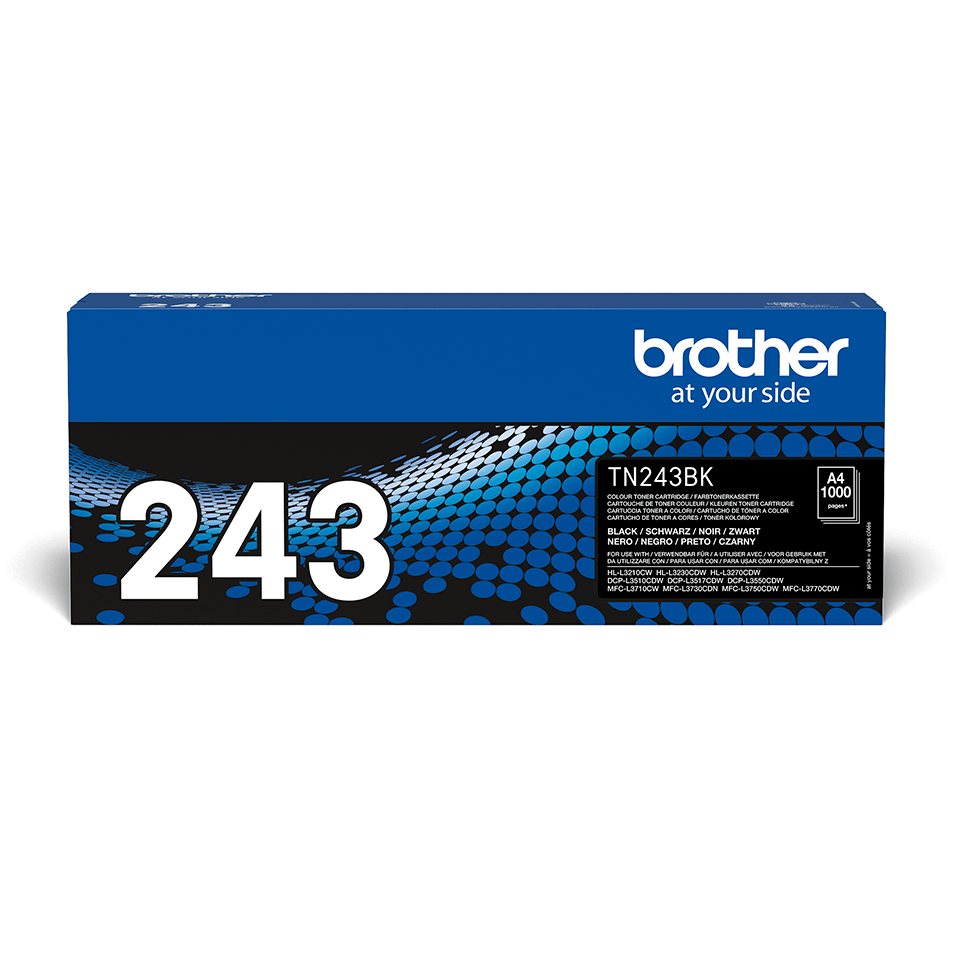 TN243BK Brother genuine toner cartridge pack front image