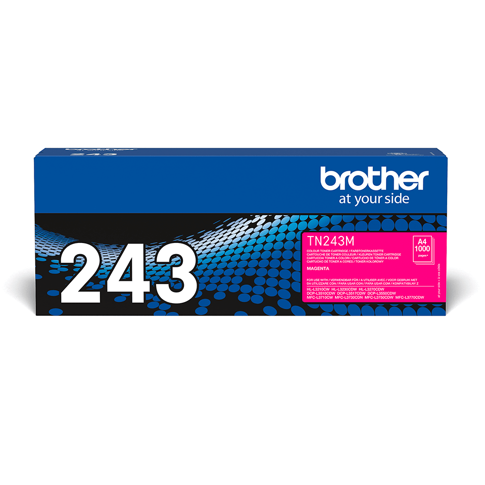 TN243M Brother genuine toner cartridge pack front image