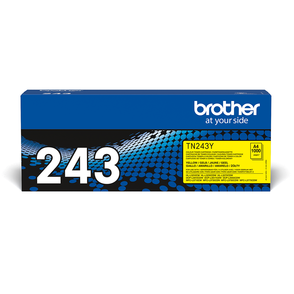 TN243Y Brother genuine toner cartridge pack front image